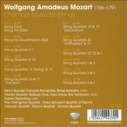 Mozart: Chamber Music for Strings | Dodax.at