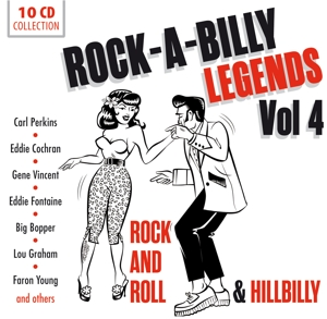 Rock'a'Billy Legends, 10 Audio-CDs. Vol.4 | Dodax.at