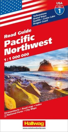 Hallwag USA Road Guide Pacific Northwest | Dodax.at