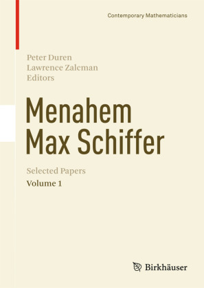Menahem Max Schiffer: Selected Papers Volume 1   Dodax.ch