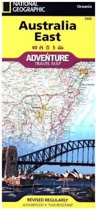 National Geographic Adventure Travel Map Australia East | Dodax.at
