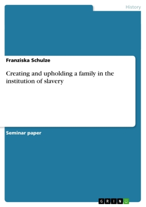 Creating and upholding a family in the institution of slavery | Dodax.co.uk