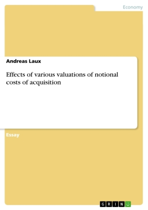 Effects of various valuations of notional costs of acquisition | Dodax.com