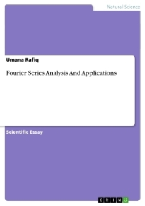 Fourier Series Analysis And Applications | Dodax.de