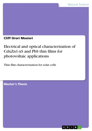 Electrical and optical characterization of CdxZn1-xS and PbS thin films for photovoltaic applications | Dodax.ch