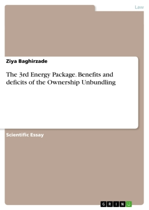 The 3rd Energy Package. Benefits and deficits of the Ownership Unbundling | Dodax.de