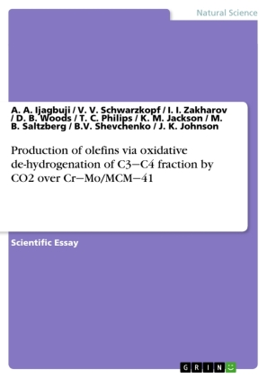 Production of olefins via oxidative de-hydrogenation of C3 C4 fraction by CO2 over Cr Mo/MCM 41 | Dodax.at