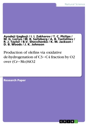 Production of olefins via oxidative de-hydrogenation of C3 C4 fraction by O2 over (Cr Mo)SiO2 | Dodax.at
