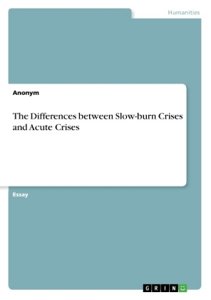 The Differences between Slow-burn Crises and Acute Crises | Dodax.at