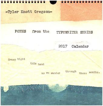 Poems from the Typewriter Series 2017 Wall Calendar | Dodax.ch