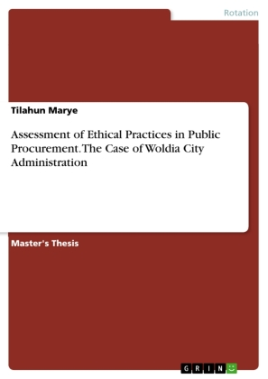 Assessment of Ethical Practices in Public Procurement. The Case of Woldia City Administration | Dodax.nl
