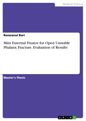 Mini External Fixator for Open Unstable Phalanx Fracture. Evaluation of Results | Dodax.nl