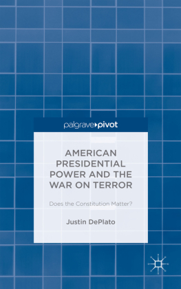 American Presidential Power and the War on Terror: Does the Constitution Matter?   Dodax.pl