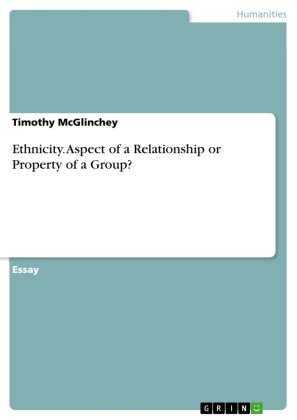 Ethnicity. Aspect of a Relationship or Property of a Group? | Dodax.co.uk