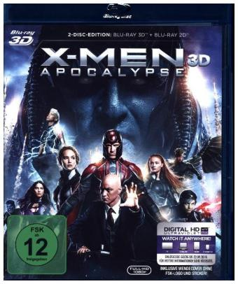 X-Men Apocalypse 3D, 2 Blu-ray + Digital HD | Dodax.es