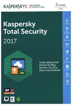 Kaspersky Total Security Multi-Device 2017, 1 Code in a Box | Dodax.at