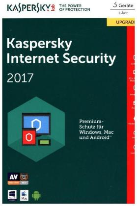 Kaspersky Internet Security 2017, 3 Geräte Upgrade, 1 Code in a Box | Dodax.at