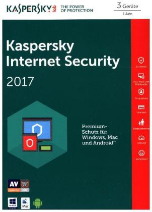 Kaspersky Internet Security 2017, 3 Geräte, 1 Code in a Box | Dodax.at