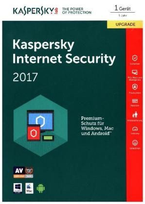 Kaspersky Internet Security 2017 Upgrade, 1 Code in a Box | Dodax.at