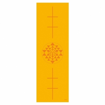 Yogamatte Leela Collection Yantra/Alignment, saffron | Dodax.co.uk