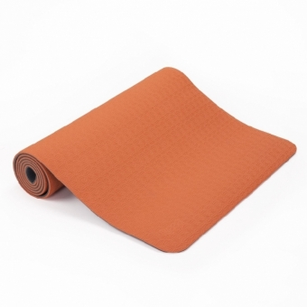 Yogamatte Lotus Pro, orange/anthrazit | Dodax.co.uk