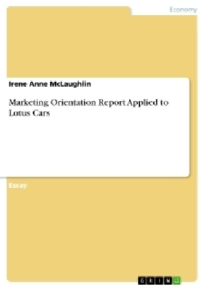 Marketing Orientation Report Applied to Lotus Cars | Dodax.ch