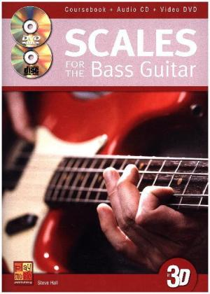 Scales For The Bass Guitar In 3D, w. Audio-CD + DVD | Dodax.pl