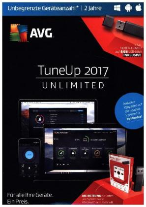 AVG TuneUp Unlimited 2017, 1 USB-Sick | Dodax.at