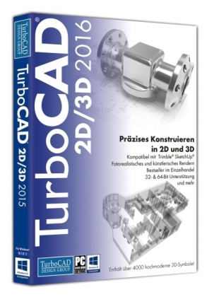 TurboCAD 2D/3D 2016, 1 DVD-ROM | Dodax.at