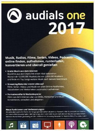 Audials One 2017, 1 DVD-ROM | Dodax.at