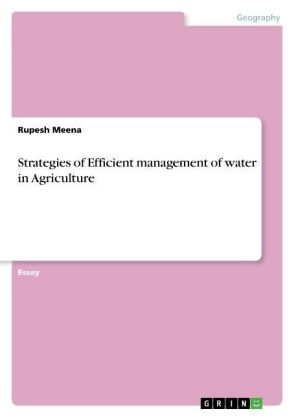 Strategies of Efficient management of water in Agriculture | Dodax.ch