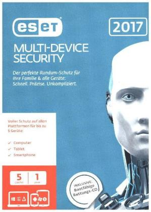 ESET Multi-Device Security 2017 Edition 5 User, 1 CD-ROM | Dodax.at