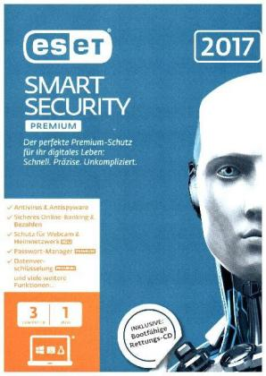 ESET Smart Security Premium 2017 Edition 3 User, 1 CD-ROM | Dodax.ch