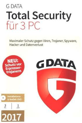 G Data Total Security 17.5 3PC, 1 CD-ROM | Dodax.at