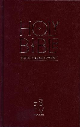 Holy Bible: English Standard Version (Esv) Anglicised Pew Bible (Burgundy Colour) | Dodax.pl