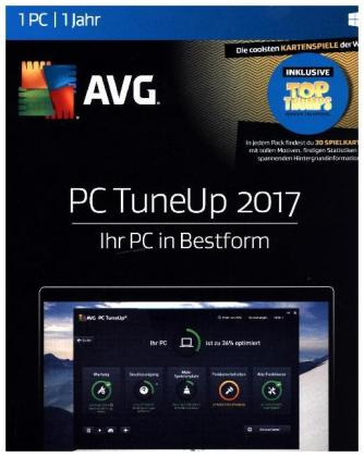 AVG PC TuneUp 2017, 1 PC 1 Jahr, 1 DVD-ROM | Dodax.at