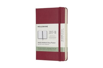Moleskine 18 Monate Wochen Notizkalender 2017/2018, P/A6, Hard Cover, Hagebutte | Dodax.co.uk