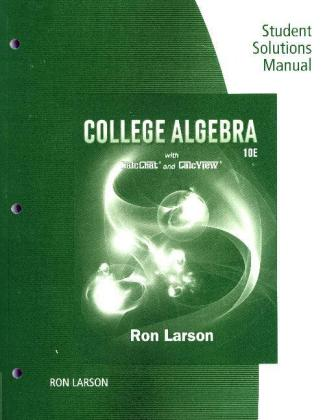 Study Guide with Student Solutions Manual for Larson's College Algebra | Dodax.pl