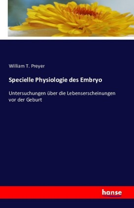 Specielle Physiologie des Embryo | Dodax.at