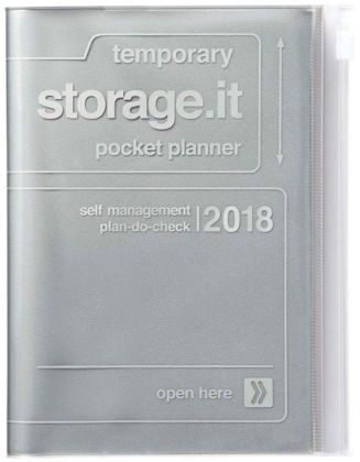 MARK'S Taschenkalender A6 vertikal, Storage.it, Silver 2018 | Dodax.co.uk