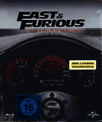 Fast & Furious, 7-Movie Extreme Action Edition, 7 Blu-rays + 1 DVD | Dodax.de