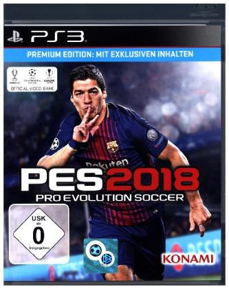 PES 2018, Pro Evolution Soccer, PS3-Blu-ray Disc (Premium Edition) | Dodax.fr