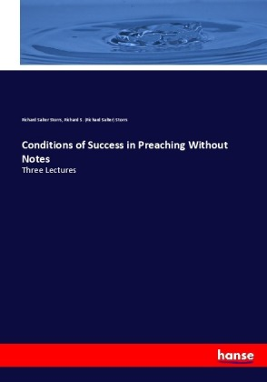 Conditions of Success in Preaching Without Notes | Dodax.de