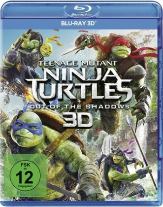 Teenage Mutant Ninja Turtles: Out Of The Shadows 3D, 1 Blu-ray | Dodax.at