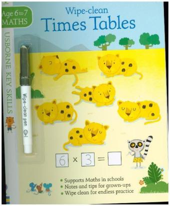 Wipe-clean Times Tables 6-7 | Dodax.fr