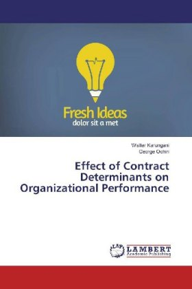 Effect of Contract Determinants on Organizational Performance | Dodax.ch