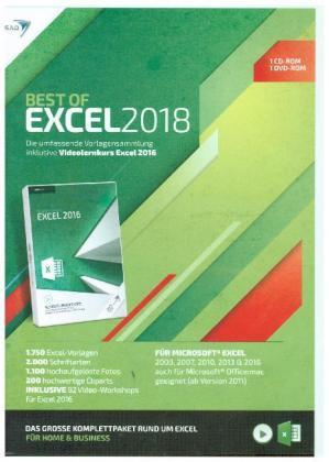 Best of Excel 2018 + Videolernkurs, 2 CD-ROMs | Dodax.ch