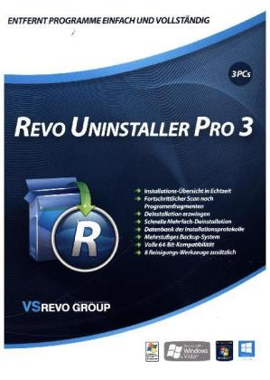 Revo Uninstaller 3 - 3-Platz-Version, 1 DVD-ROM | Dodax.ch