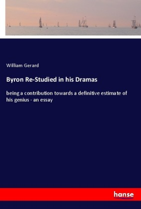 Byron Re-Studied in his Dramas   Dodax.pl