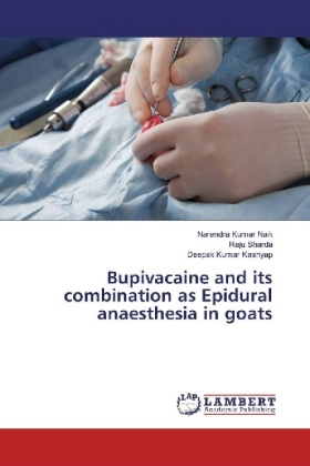 Bupivacaine and its combination as Epidural anaesthesia in goats | Dodax.nl